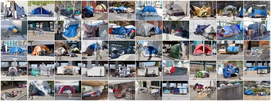 """Tent City, San Francisco"" collage"